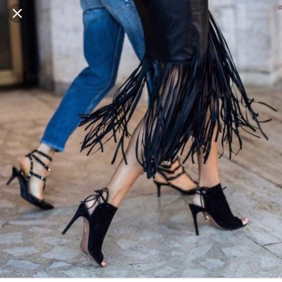 Aquazzura Shoes - Aquazzura Mayfair peep toe bootie